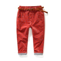 3-10years 2014 new girls pants children autumn winter warm kids' fashion corduroy trousers casual style free shipping