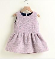 Kids exquisite embossed autumn new models girls woolen vest dress woolen vest lady princess wind