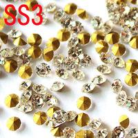 SS3 Bottom tip Rhinestones phone DIY stick drill 1.4 mm diamond nail copy Mr White