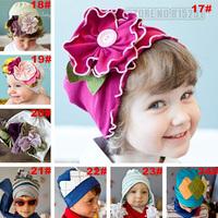 Wholesale new Europe wind lovely tide headdress cotton big Huamao Baby Hat