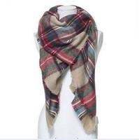 za winter 2014 scarf plaid new designer unisex acrylic basic wrap shawl women female Spring fall Cashmere Christmas gift