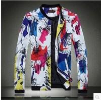 Free shipping 2014New style fashion mens hooded coats casual active Jacket Color matching men windbreak jackets ,polo jacket