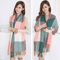 Winter Women's Cashmere Scarf High quality Fashion Plaid Tassel Shawl Scarves Warm Free Shipping