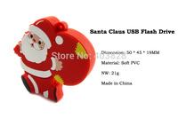 Free Shipping Santa Claus USB Pen Drive 32GB 16GB 8GB 4GB for Christmas Gift Father Christmas Thumb Drive USB Memory Stick China