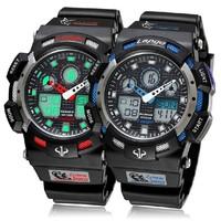 Brand Pasnew 100 m Waterproof Diver Watch Silicone Analog Digital Watch Multi-function Sports Wristwatch