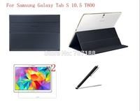 Original Ultra Slim Smart Magnetic PU Leather Case+2xFilm+Stylus For Samsung Galaxy Tab S 10.5 T800,Free Shipping!