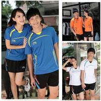 Li Ning 2012 Hot Sale Badminton Jersey Men and Woman Tennis Racing suit Lin Dan Badminton Sport Wear