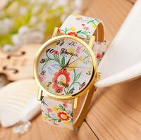 New Fashion Geneva Flower Watches Women Dress Watches Quartz Watches AW-SB-1065