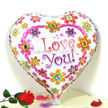 10 unids/lote 18 pulgadas amor en forma de corazón de la hoja del helio globos de cumpleaños fiesta decoración con globos envío Shiping libre