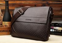 Bolsas Pu Handbag Men Solid Cover Bolsa Handbags 2014 New Men's Briefcase Messenger Bag Shoulder Large Capacity Traveling