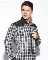 2014 Fall Large Size 7XL 8XL Casual Dress Plaid Shirt Male Cotton Men Shirt Long Sleeve