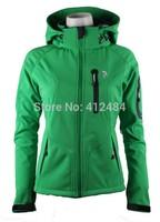 2014 New Arriving Brand SoftShell Jacket Women Spring Autumn Windproof Waterproof Breaker Outdoor Jacket US Size S to XXL