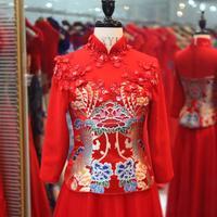 ON Sale  Promotion 2014 bridal wear improved chinese style formal dress evening dress vintage fashion cheongsam wedding dress