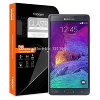 Original Galaxy Note 4 Screen Protector Spigen GLAS.tR SLIM Series Tempered Glass Film for Samsung Galaxy Note 4
