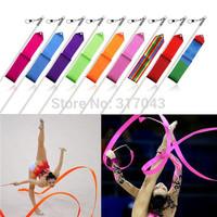 600 pcs 12 color Gym Dance Ribbon Rhythmic Art Gymnastic Streamer Baton Twirling Rod  fedex  free shipping