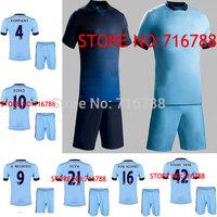 14 15 Youth Frank Lampard Jersey Soccer 2014 2015 FC Football Shirt Children Toure Yaya Kun Aguero Kompany Zabaleta A.negredo