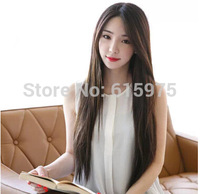 1 X Free Shipping 2014 Newest Sweet Korean Style Long Smooth Straight Wig For Women Girls Cosplay Party Wig Wear Carve long Wigs