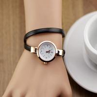 Leather Strap Bracelet Dress Watch women Ladies Fashion Rhinestone Analog Quartz Wristwatches ladies watch  clocks
