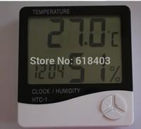 Free shipping Indoor Digital Thermometer Hygrometer Clock Detecting the temperature tool Digital hygrometer