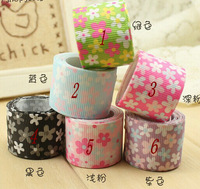 25mm free shipping Printed Grosgrain Ribbon for gift packing 6 Color Mixed -packing ribbon 24 yards/lot