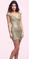2014 New Fashion Custom Made keen-length  Prom Dresses Cocktail Dress short Evening Dress  V-neck