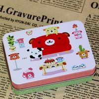 Bandaotiehe cute little tin box candy box card box jewelry box storage box Winnie the Pooh