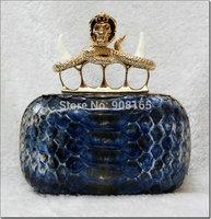 free shipping snake leather women brand handbag women luxury skull bags BLT0038