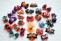 2014 New 20pcs/ lot Free shipping Halloween dog bows pet hair bows,pet accessories pet hair ornament pet grooming supplies sales