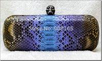 free shipping high quality snake leather women brand handbag women luxury skull bags BLT0039