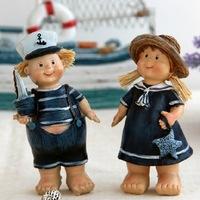 European-style garden resin Navy couple doll ornaments resin crafts resin single price 2pcs/set