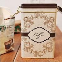 zakka  Coffee Can Candy Cookie Jar Peninsula Tin Box Food Sundries Iron Storage Box Home Decoration Gift