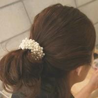 Trendy Female Hair Accessories Imitation Pearl Headwear For Women Girl Elastic Hairbands