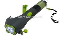 Car 8 in 1 Multi-function Flashlight Hammer Cutter Emergency alarm and flee