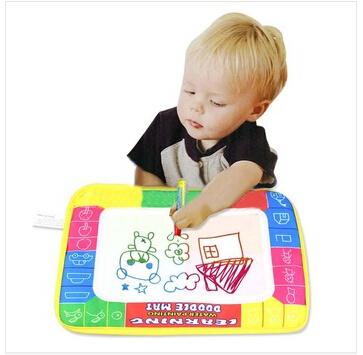 Free shipping 45X29cm Cp1323 4 color Water Drawing Toys Mat Aquadoodle Mat&1 Magic Pen/Water Drawing board/baby play mat(China (Mainland))