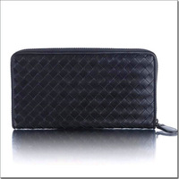 free shipping Men's classic Cowhide zipper wallets leather purses  WLT003