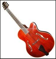 17inch f hole fully handmade acoustic jazz guitar