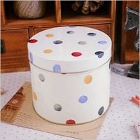 zakka big size Wave Point Candy Cookie Jar Tin Box Food Sundries Iron Storage Box Home Decoration Gift