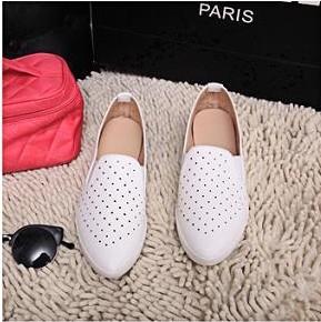 Real Top moda Closed Toe mulheres Sapatos trepadeiras Sapatos Femininos escavar respirável apontou Sapatos(China (Mainland))