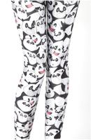 "Fashion Cartoon Design,Free Size,Knitted, Sexy ""Panda"" Fat Burning Tattoo Girl's Leggings,SD3156,Free Shipping"