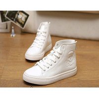 Male Skull Pattern High Top Sneaker Spring And Autumn Sport Casual Shoes Student Korean Design Vogue Men Comfortable Soft Punk