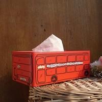 zakka London Bus Tissue Box Paper holder Tin Box Crafts Sundries Iron Storage Box Home Decoration Gift