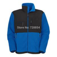Outdoor Sports  Men's Blue Color Fleece Jacket High Quality No Hoody Coat 8 colors  414
