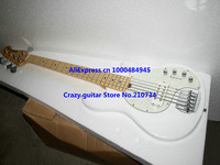 Wholesale -Free Shipping White 5 Strings Music Man Electric Bass High Quality Wholesale