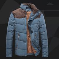 2014New Arrival Winter Men Jacket Stand Collar Casual Warm Zipper 3Colors Down-Jacket Coat KA011