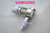 2 x T10 / W5W 5W power Samsung 10-30V Car / truck / bus led clearance lights, parking lights, free shipping