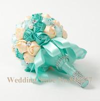 Bridal New Bridesmaid Decoration Posy Beautiful Rose Bridal Bouquet Colorful Satin Romantic Wedding Bouquet Flowers Bride
