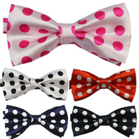 2014 NEW  Childrens Classic round dot Bowtie Fashion  Neckwear Adjustable Unisex  Bow Tie Polyester Pre-Tied Free Shipping