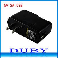 100piece/lot US/EU Plug AC 100-240V /DC 5V 2A USB Charger Adapter Supply Wall Home Office free fedex