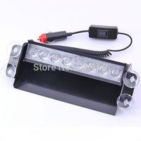 New 8 LED Strobe Flash Warning EMS Police Car Light Flashing Firemen Fog lamp best deal 1pcs