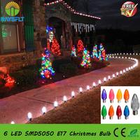 Freeshipping Christmas Holiday Bulb ac120v smooth diamond colorful E17 outdoor decoration led lamp
